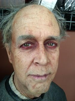 This is some amazing stage makeup that I would use on Odysseus when Athena turns him into an old beggar man!