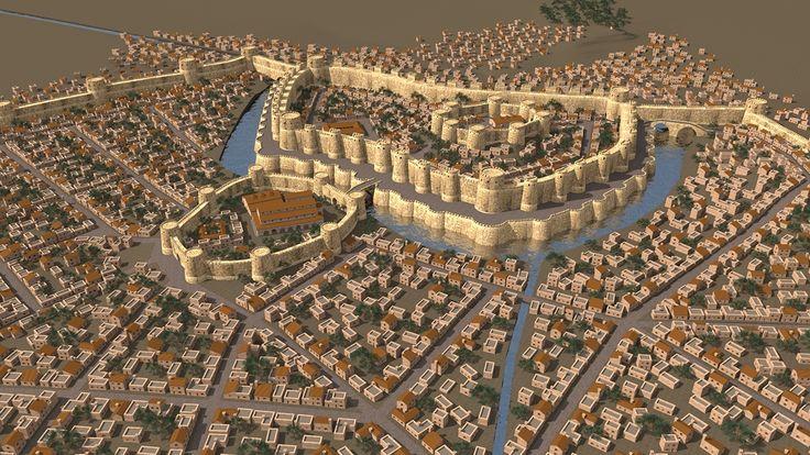 Architecte et Designer Ashot Ghazaryan a créé un modèle 3D impressionnant de Dvin; l'ancienne ville capitale de l'Arménie. Le modèle 3D a été fait pour le documentaire «And…