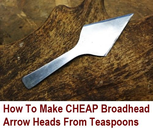 Archery is an expensive hobby... Arrows and arrowheads cost a fair bit, and they have a habit of getting lost and broken. Teaspoons on the other hand are very cheap (in comparison). A quick look on Amazon tells me that you can purchase a pack of 36...