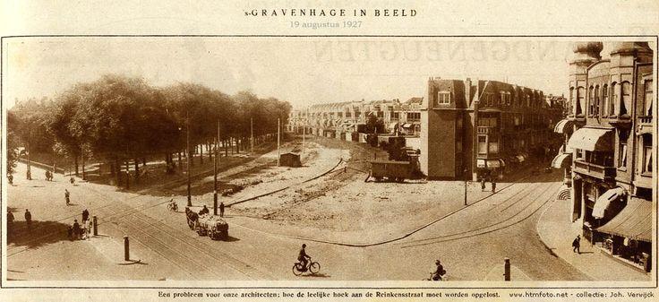 Hoe de leelijke hoek aan de Reinkenstraat moet worden opgelost foto uit `s-Gravenhage in Beeld van 19 augustus 1927