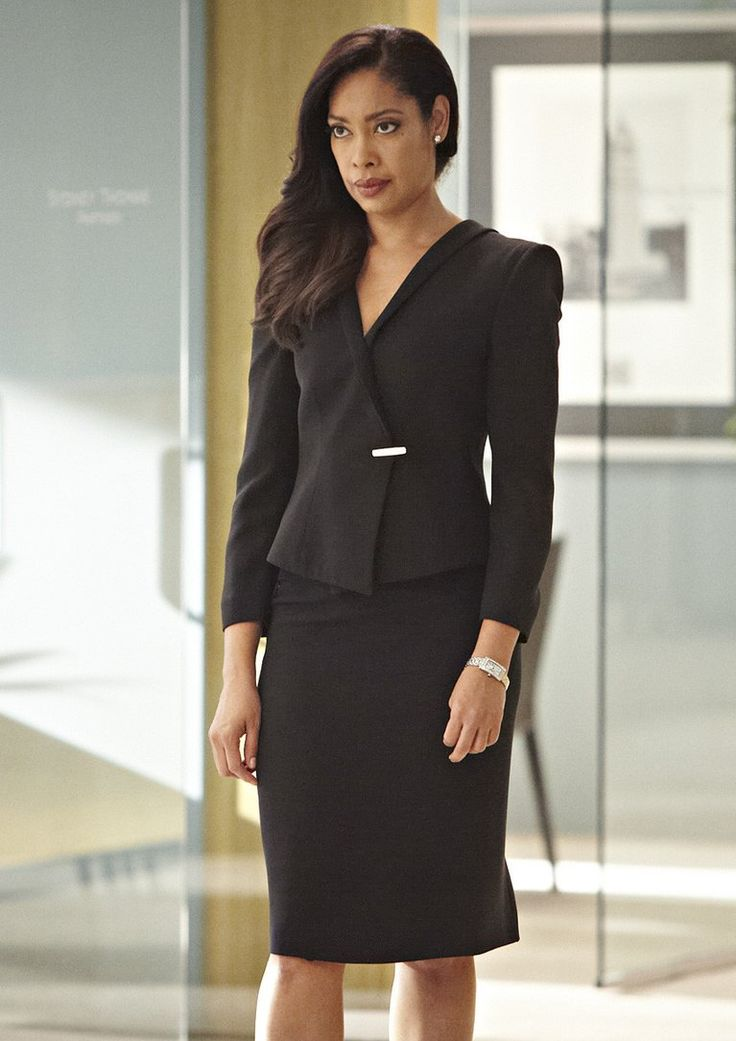 "Jessica Pearson (Gina Torres) has attitude and a sizzling fashion sense in USA's ""Suits."" Pinned her as an example of a stron, powerful and successful business woman."