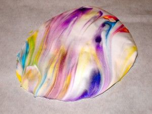 Marbleized paper eggs  -  toddler craft!