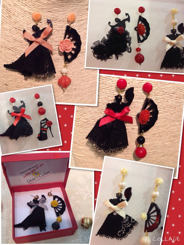 Ballerine di flamenco, orecchini