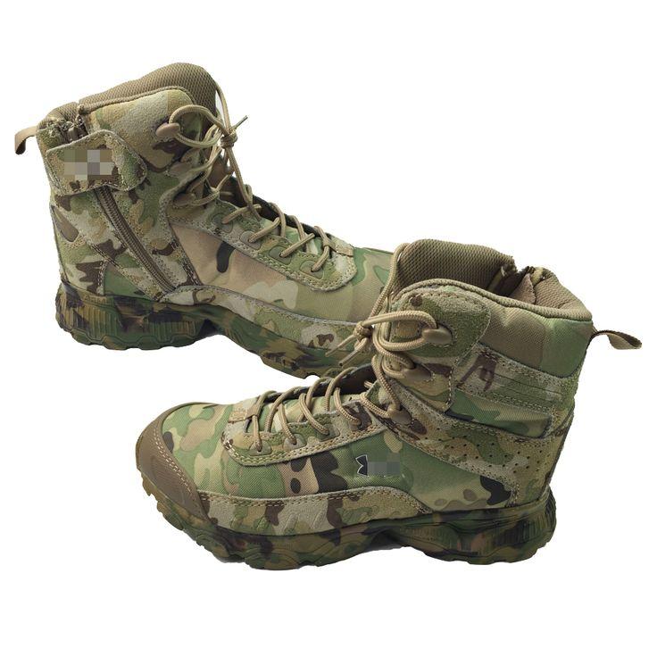 マルチカム迷彩戦術ブーツ軍事陸軍屋外狩猟cp耐久性ソフト通気性レザー旅行戦闘登山靴