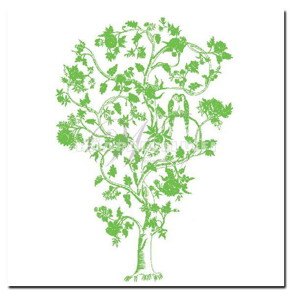 Kukkapuu -tyylin kutsukortit. 10 x 21 cm.