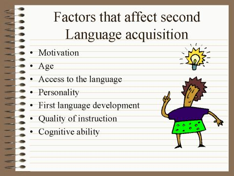 Second-language Acquisition | ... SECOND LANGUAGE ACQUISITION. FACTORS AFFECTING LANGUAGE ACQUISITION