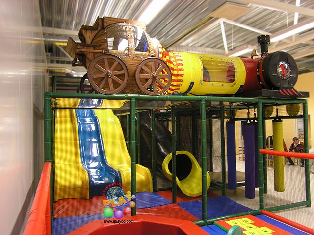 Stagecoach and train photo install. International Play Company designed, manufactured and installed this for a shopping center. www.iplayco.com #themed #commercial #indoor #playground #shopping #center   Flickr - Photo Sharing!