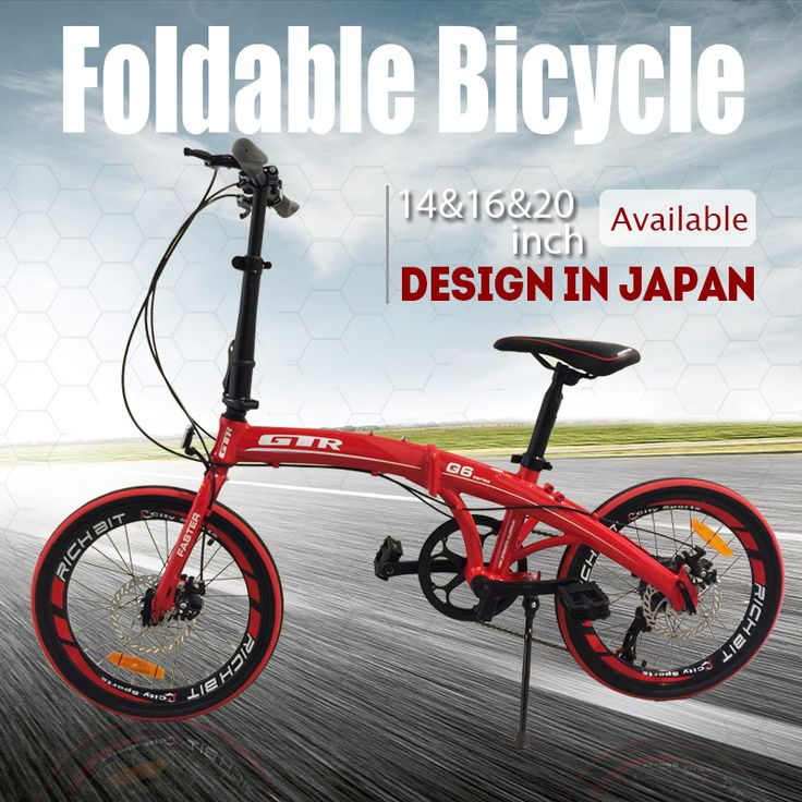 [S$119.90](▼70%)[Hachiko]Best Price Best Quality:14 inch 16 inch 20 inch Hachiko Foldable Bike Bicycle Shimano Folding Bike Japan 14 inch Korean Bike Excider