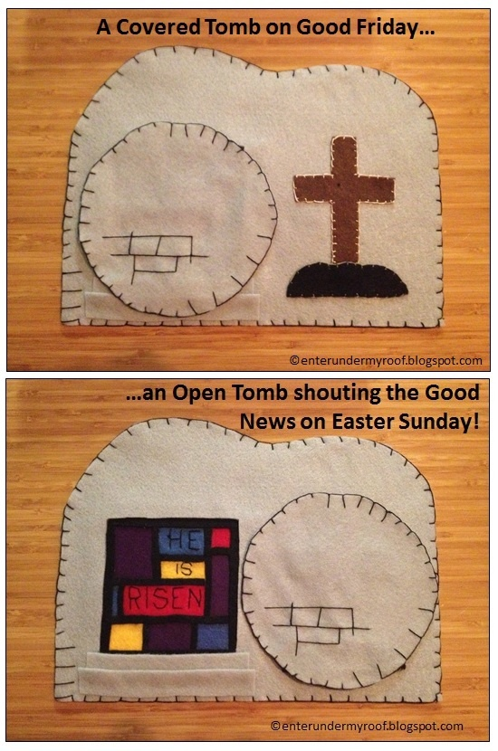 A great Good Friday - Easter Sunday project & activity for kids. Can be either sewn or glued based on age of who is making it! Perfect for the Triduum,