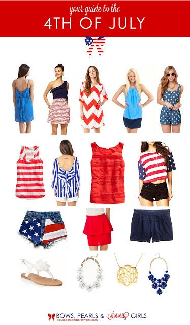 Your Guide to the Fourth of July  at Bows, Pearls, and Southern Sorority Girls