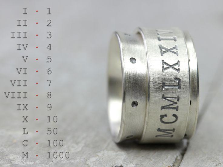Ein Drehring mit römischen Zahlen. #fashion #jewelry #schmuck #shopping  Schöne 15mm XXL Breite.