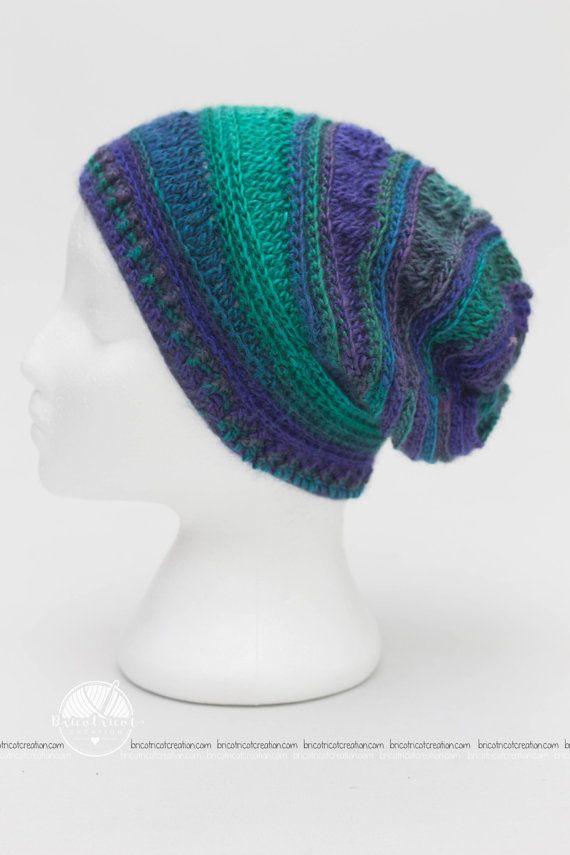 Chapeau slouchy pour enfant. #bricotricot #crochet #slouchyhat