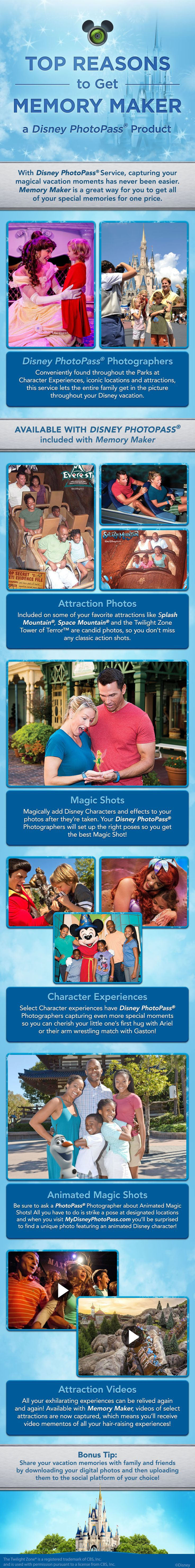 With Disney PhotoPass Service, capturing your Walt Disney World Resort magical vacation moments has never been easier! Memory Maker is a great way for you to get all of your special memories for one price. Let our 3D Travel Specialists help you plan your magical trip! #3DTC