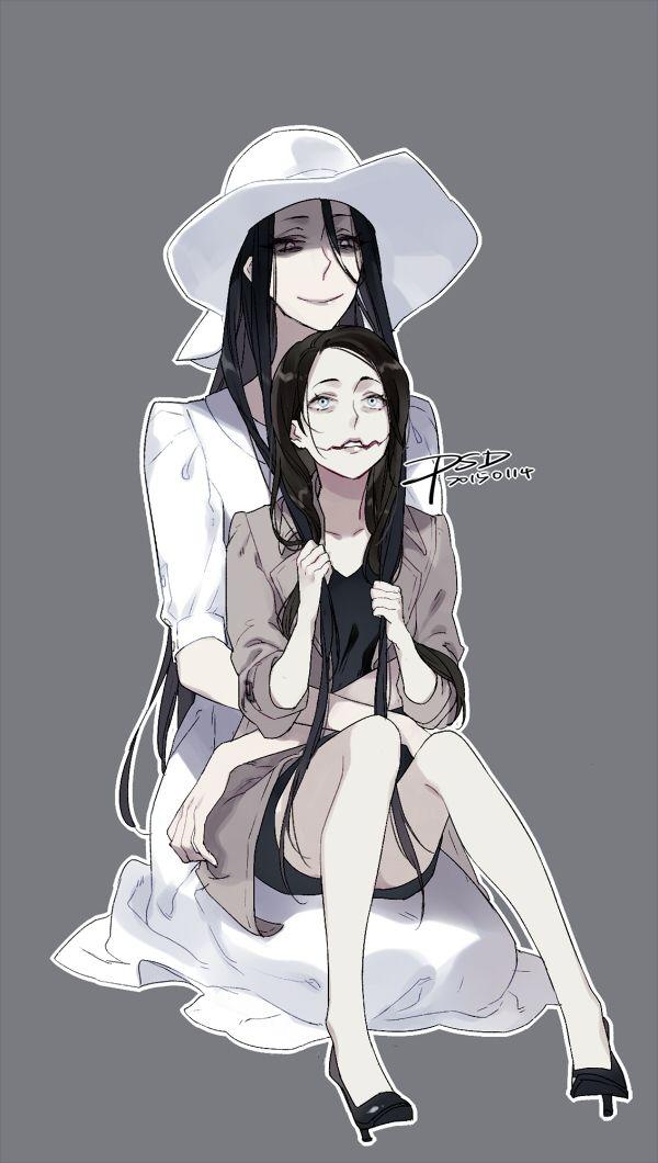 Hasshaku-Sama And Kuchisake Onna  Creepypasta -4049