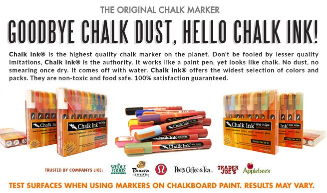 Wet Erase Chalk Ink Markers | Dustless Liquid Chalk Pens