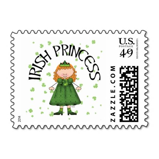 309 best irish postage stamps images on pinterest invites postage irish princess custom us postage stamps this is customizable to put a personal touch on reheart Images