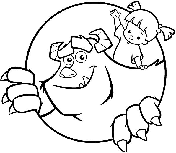 39 best coloring pages images on pinterest | adult coloring ... - Monsters Coloring Pages Sully