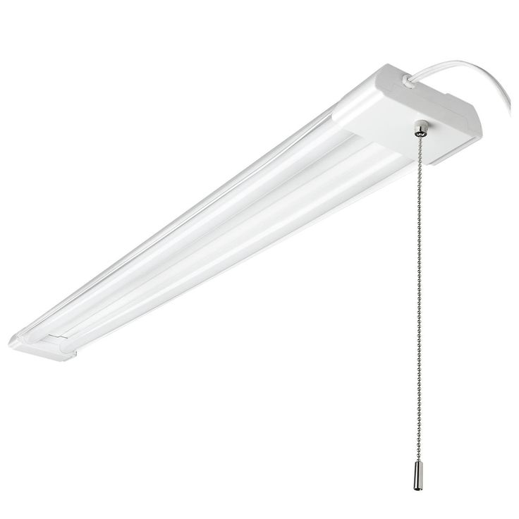Led Shop Light Fixture 40w Cool White 4000lm W Pull Chain