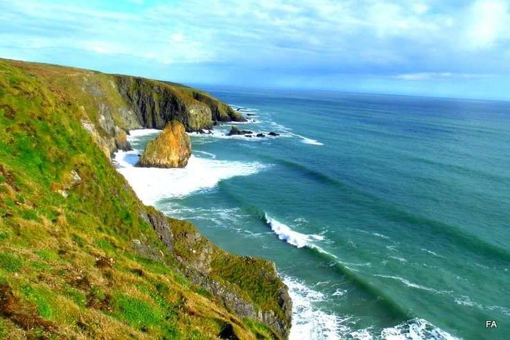 Copper Coast, Waterford, Ireland #coppercoast #irishcoastline #cliffs #ireland #waterford
