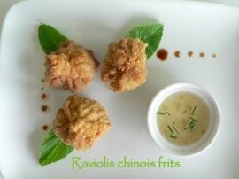Raviolis chinois frits, sauce aux prunes