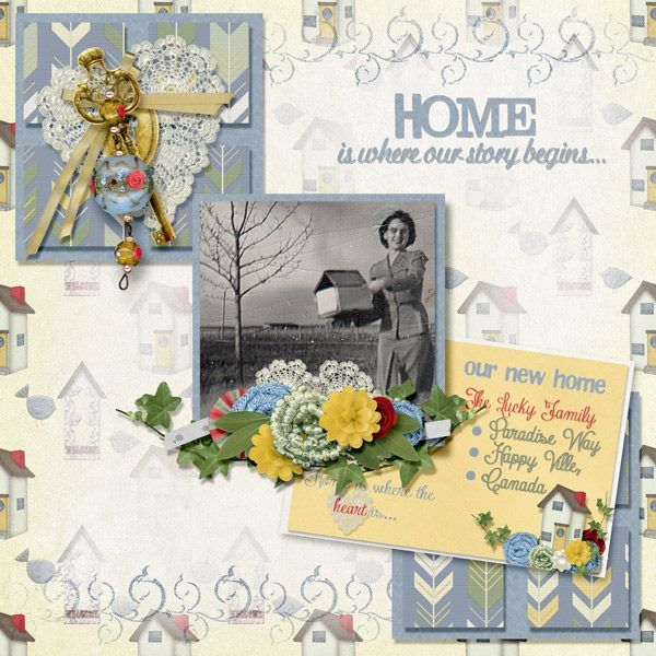 June Mixology Home Sweet Home 12x12 Layout Templates