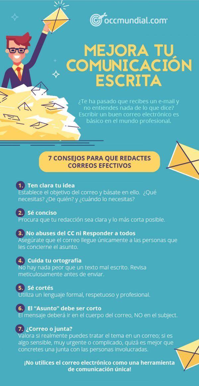 Infografía Consejos Para Redactar Correos Efectivos Consejos Comunicacion Escrita Consejos Sobre Escritura Como Aprender A Redactar Comunicacion Escrita