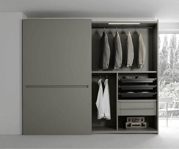 Popular Kleiderschrank Vitro Glasschiebet ren Wei Hochglanz