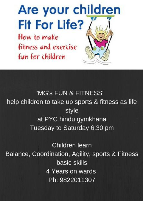 'MG's FUN & FITNESS'   help children to take up sports & fitness as...