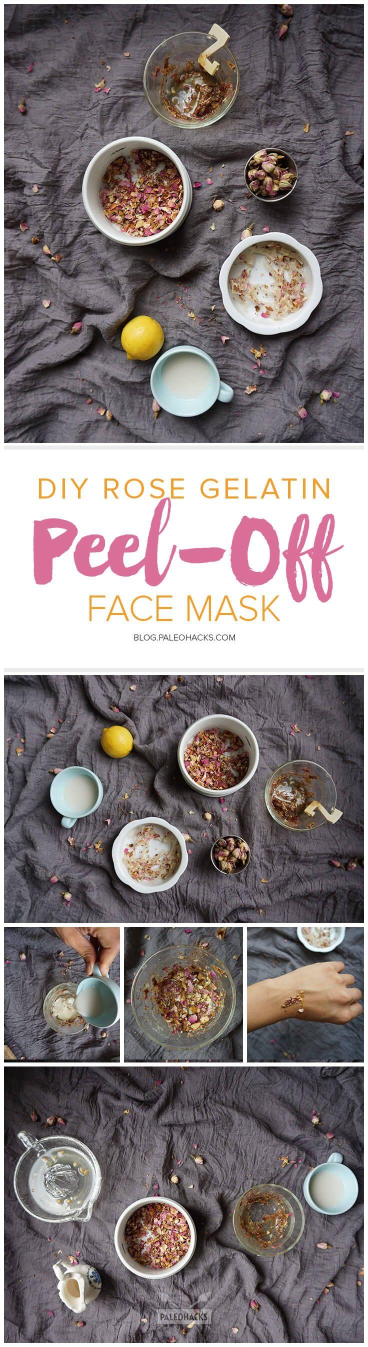 Purifier les pores sur la personne la gélatine