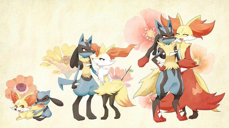 Fennekin and Riolu: Evolution Family