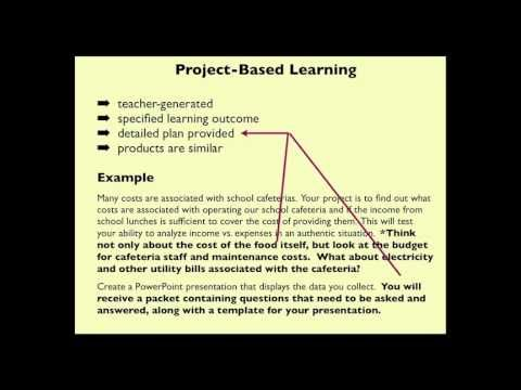 The features of PBL & PBL are listed below based on the video:  1. Project based learning  (1) Teacher generated  (2) Specified learning outcomes  (3) Detailed plan provided  (4) Products are similar  2. Problem based learning  (1) Ill defined (2) Students determine plan of action  (3) Mistakes lead to success  (4) Various answers/products  (5) Teacher as facilitator