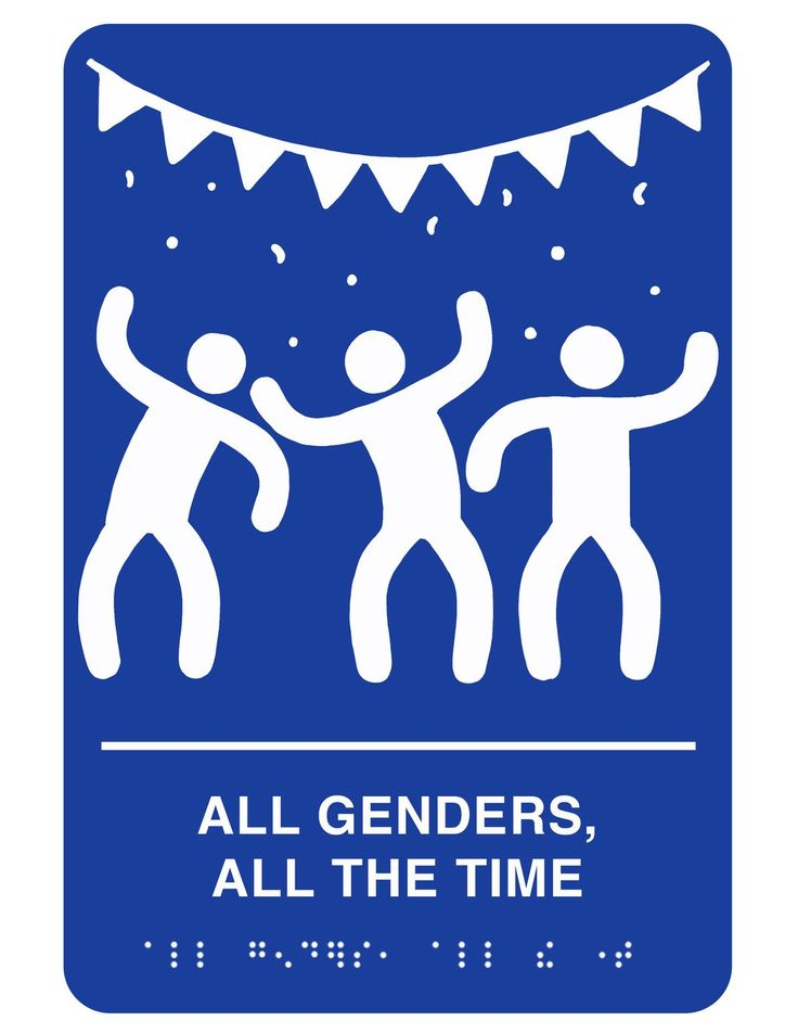 Printable gender-inclusive bathroom signs you can put up anywhere that needs it