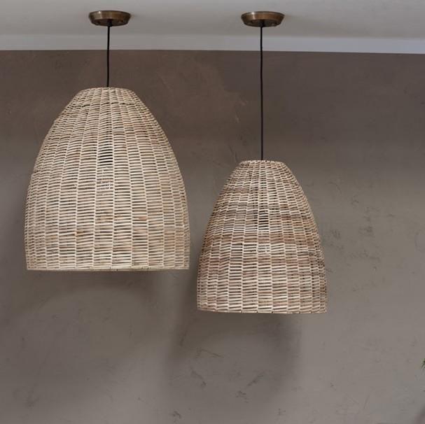 Dome Natural Pendant Lamp Wicker Pendant Light Bamboo Pendant Light Light Fittings