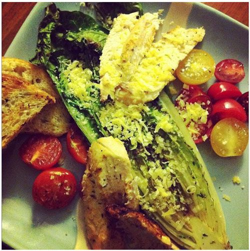 Grilled romaine lettuce, adapted from the www.ljcfyi.com photo and her ...