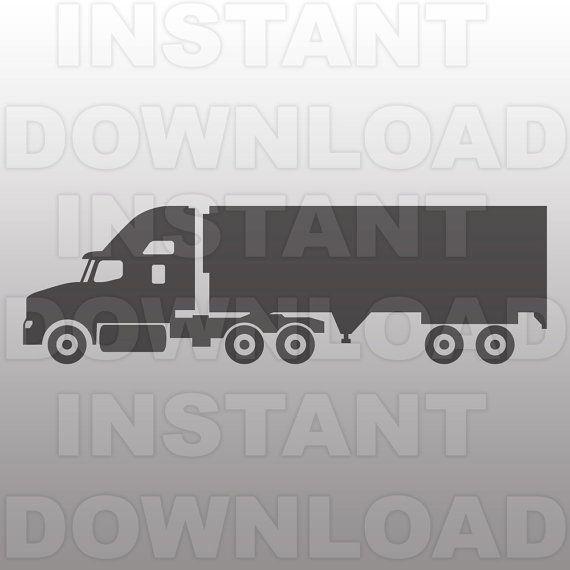 Semi Truck Svg File Truck Svg Cutting Template Vector Clip
