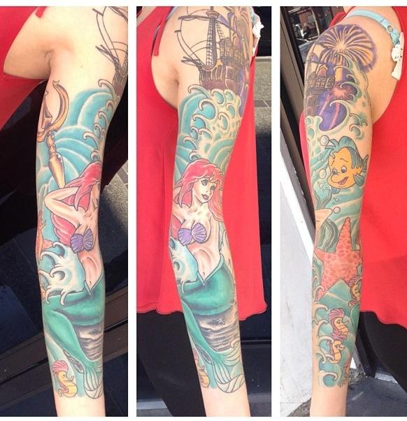 Ariel tattoo ... A good way if tying it together