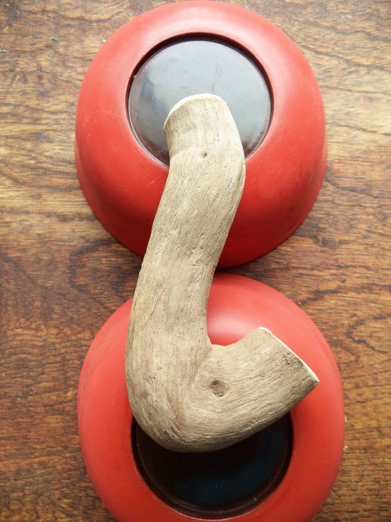 Primitive Wooden Tobacco Pipe Short Pipe Driftwood by HandbyHand, $12.00