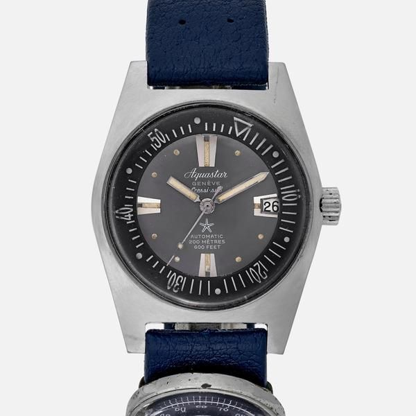 """Why This Watch Matters This Aquastar was one of the most respected divers of the 1960s, and was considered a must-have piece of equipment. The Full Story The """"Aquastar 63"""" was seen as one of the best divers you could find in the 1960s, with its 200-meter water resistance and inner rotating bezel activated directly by the crown. This explains why you could buy them in specialized shops like the Spirotechnique in France or Cressi-Sub in Italy, here mentioned on the dial. Priced lower than…"""