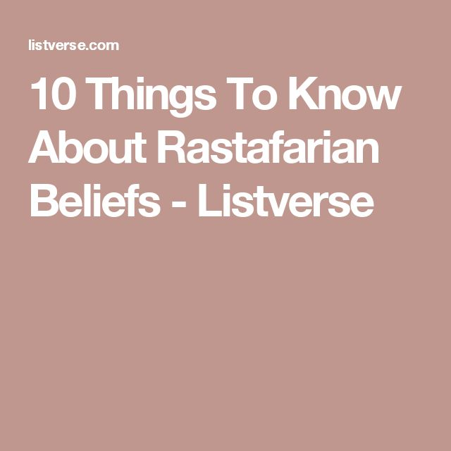 10 Things To Know About Rastafarian Beliefs - Listverse
