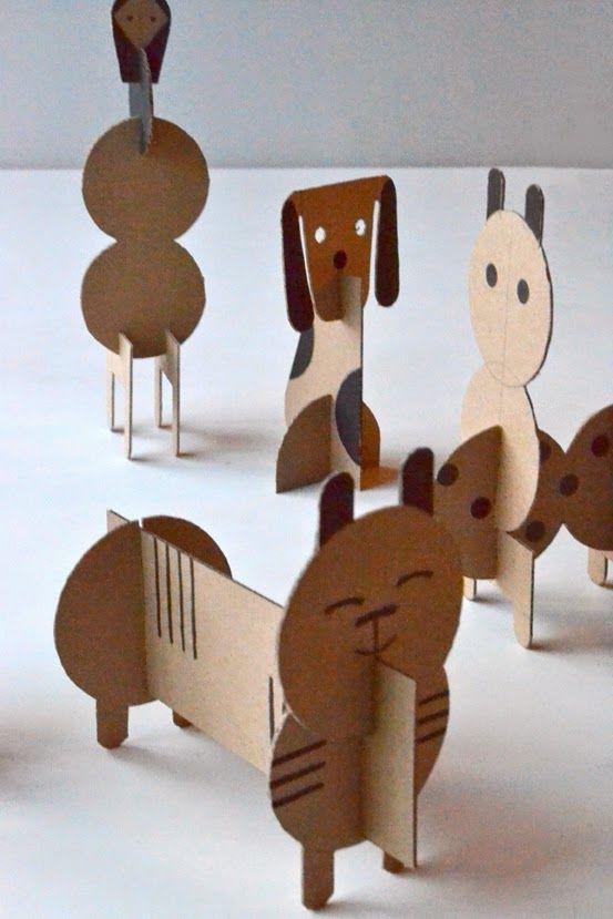 Make Cardboard Geometric Animals