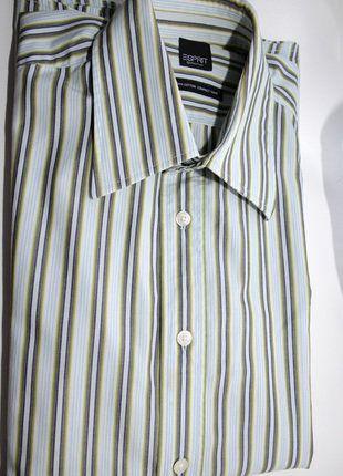 À vendre sur #vintedfrance ! http://www.vinted.fr/mode-hommes/chemises/28037806-tres-belle-chemise-homme-t-m-marque-esprit-tbe