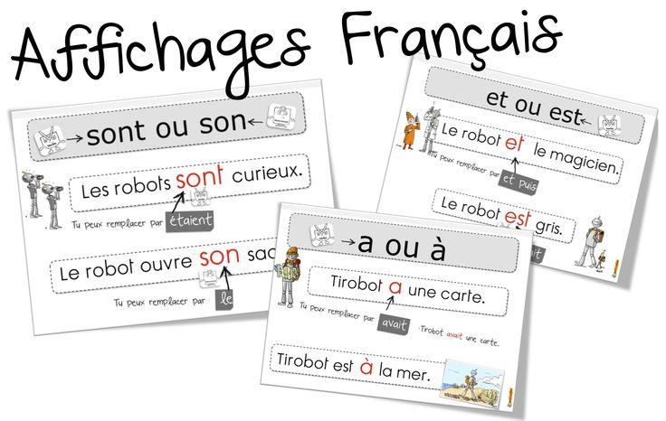 Affichages Français : les homophones grammaticaux - Bout de gomme