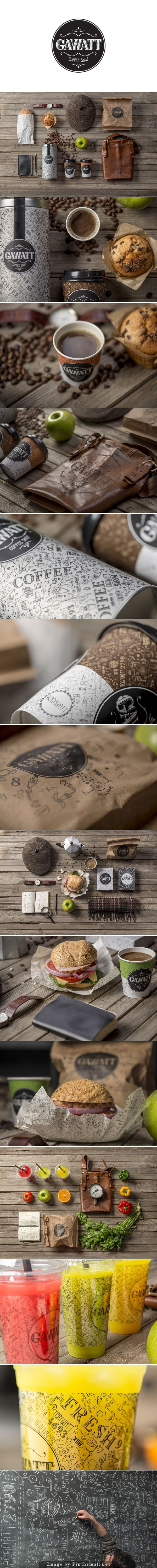 Coffee Shop Branding: Gawatt Take-Out Coffee created by Stepan Azaryan, Karen Gevorgyan and Armenak Grigoryan