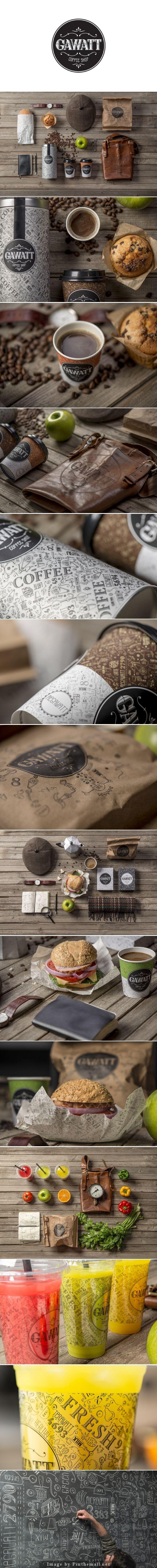 Coffee Shop Branding: Gawatt Take-Out Coffee created by Stepan Azaryan, Karen Gevorgyan and Armenak Grigoryan