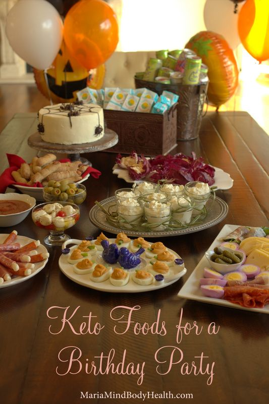 Low Carb Gluten Fre Keto Foods for a Birthday Party