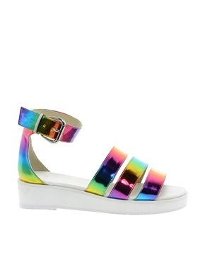 ASOS FABULOUS Flatform Sandals. I could totally see you rockin' these Kim!