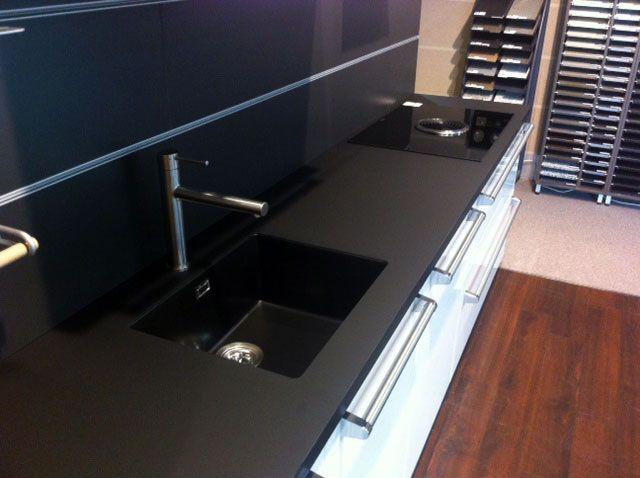 Spoelbak Keuken Keramiek : kunststof Lavanto-spoelbak – Keukenwerkbladen Pinterest – Zwart