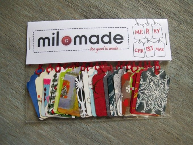 I'm only thinking about Christmas already beacuse of work... but love these upcycled tags
