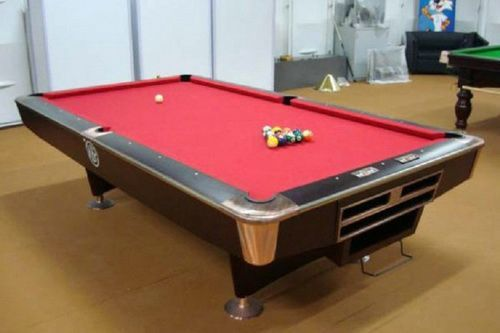Red 7ft Pool Table