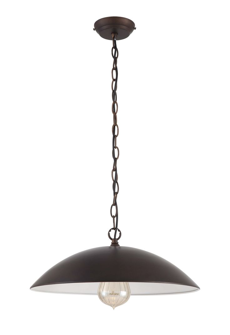 Diy supplies accessories diy at b q - Rowleys Dome Bronze Effect Pendant Ceiling Light Departments Diy At B Q